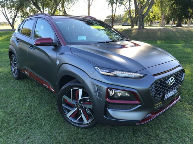 Demo Hyundai Kona OS.2 MY19 Iron Man Edition D-CT AWD, 2019 Hyundai Kona OS.2 MY19 Iron Man Edition D-CT AWD Iron Man two-tone 7 Speed
