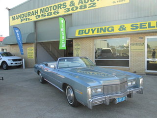 1975 Cadillac Eldorado Blue Automatic Convertible.