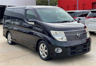2009 Nissan Elgrand Black Wagon.