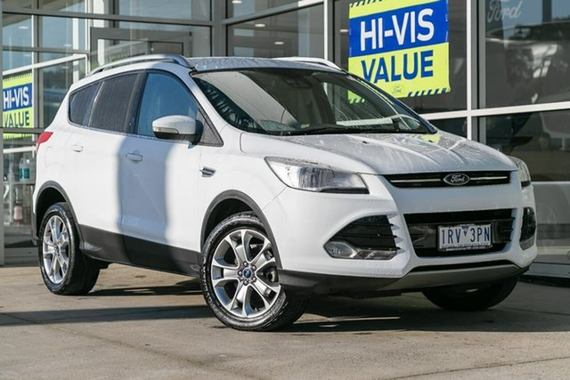 Used Ford Kuga TF MY15 Trend AWD, 2015 Ford Kuga TF MY15 Trend AWD White 6 Speed Sports Automatic Wagon