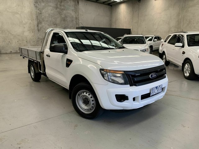 Used Ford Ranger PX XL 4x2, 2013 Ford Ranger PX XL 4x2 White 6 Speed Manual Cab Chassis