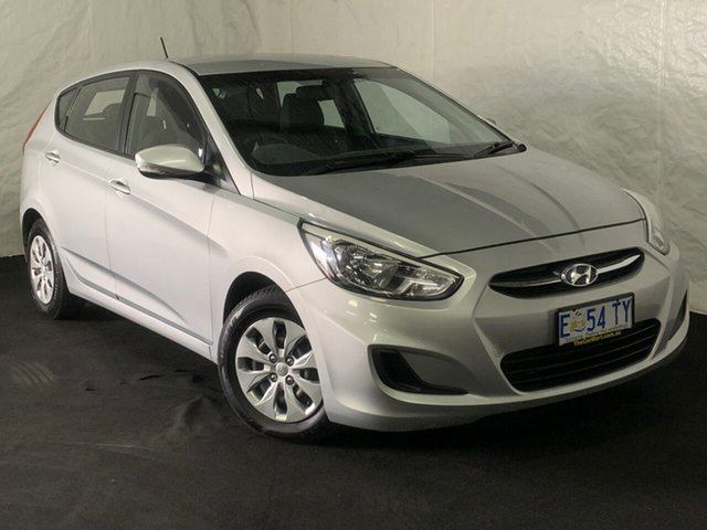 Used Hyundai Accent RB2 MY15 Active, 2015 Hyundai Accent RB2 MY15 Active Sleek Silver 4 Speed Sports Automatic Hatchback