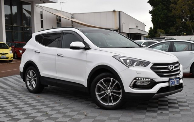 Used Hyundai Santa Fe DM5 MY18 Highlander, 2018 Hyundai Santa Fe DM5 MY18 Highlander White 6 Speed Sports Automatic Wagon