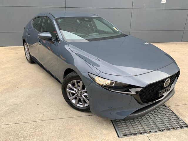 New Mazda 3 BP2H7A G20 SKYACTIV-Drive Pure, 2019 Mazda 3 BP2H7A G20 SKYACTIV-Drive Pure Polymetal Grey 6 Speed Sports Automatic Hatchback