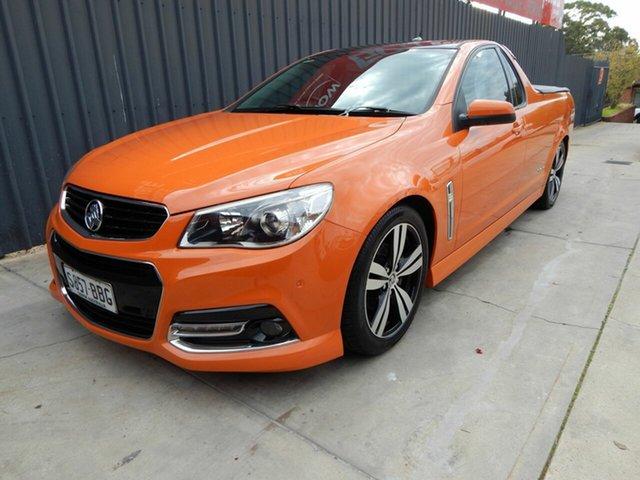 Used Holden Ute VF MY14 SV6 Ute Storm, 2014 Holden Ute VF MY14 SV6 Ute Storm Orange 6 Speed Manual Utility