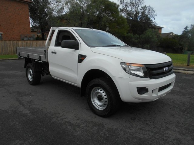 Used Ford Ranger PX XL 2.2 Hi-Rider (4x2), 2014 Ford Ranger PX XL 2.2 Hi-Rider (4x2) White 6 Speed Automatic Cab Chassis