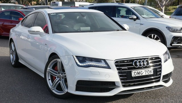 Used Audi A7 4G MY14 Bi-Turbo Sportback Tiptronic Quattro, 2014 Audi A7 4G MY14 Bi-Turbo Sportback Tiptronic Quattro White 8 Speed Sports Automatic Hatchback