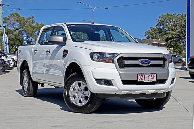 Used Ford Ranger PX MkII 2018.00MY XLS Double Cab, 2018 Ford Ranger PX MkII 2018.00MY XLS Double Cab Frozen White 6 Speed Sports Automatic Utility