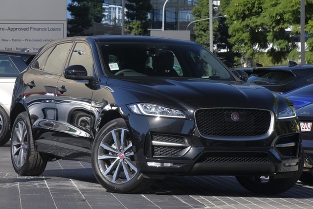 Demo Jaguar F-PACE X761 MY19 25t AWD R-Sport Newstead, 2019 Jaguar F-PACE X761 MY19 25t AWD R-Sport Santorini Black 8 Speed Sports Automatic Wagon