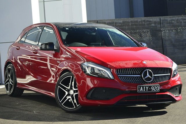 Used Mercedes-Benz A-Class W176 806MY A250 D-CT 4MATIC Sport, 2015 Mercedes-Benz A-Class W176 806MY A250 D-CT 4MATIC Sport Red 7 Speed