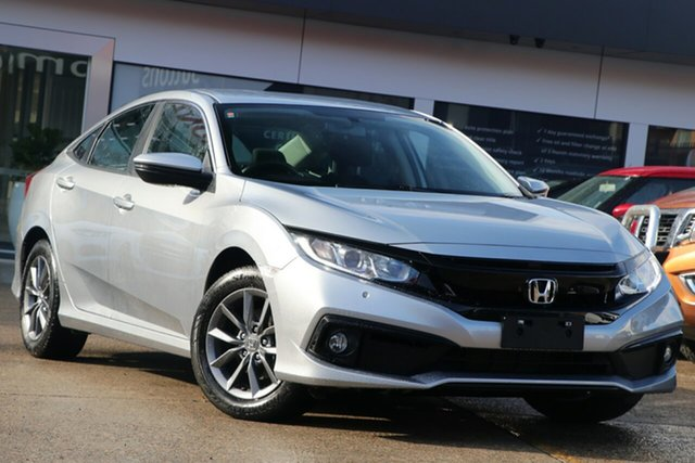 Used Honda Civic MY19 VTi-S, 2019 Honda Civic MY19 VTi-S Lunar Silver Continuous Variable Sedan