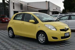 2010 Toyota Yaris NCP90R MY10 YR Yellow 4 Speed Automatic Hatchback.