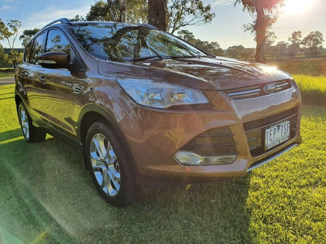 Used Ford Kuga TF Trend, 2013 Ford Kuga TF Trend Brown Sports Automatic Dual Clutch Wagon