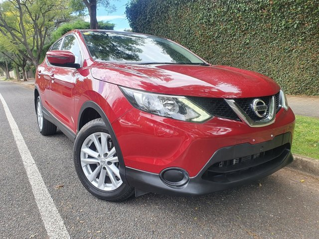 Used Nissan Qashqai J11 ST, 2017 Nissan Qashqai J11 ST Red/Black 1 Speed Constant Variable Wagon