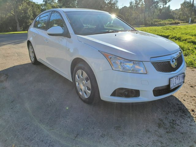 Used Holden Cruze JH Series II CD, 2012 Holden Cruze JH Series II CD White Sports Automatic Hatchback