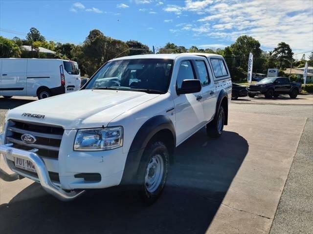 Used Ford Ranger PJ XL Crew Cab, 2007 Ford Ranger PJ XL Crew Cab White 5 Speed Manual Utility
