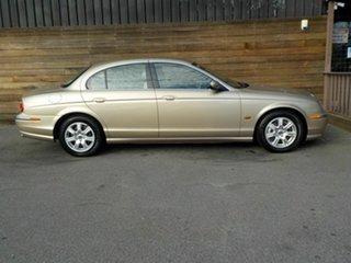 2002 Jaguar S-Type X202 Gold 6 Speed Automatic Sedan.