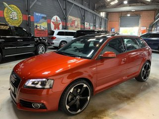 2012 Audi A3 8P MY13 Ambition Sportback S Tronic Burgundy 6 Speed Sports Automatic Dual Clutch