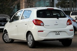 2019 Mitsubishi Mirage LA MY20 ES White Continuous Variable Hatchback