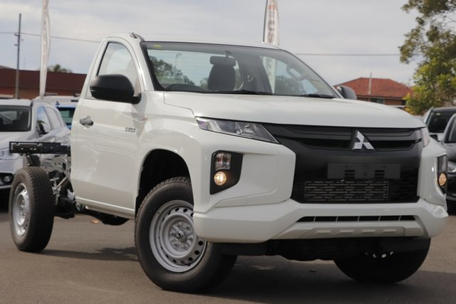 Used Mitsubishi Triton MR MY20 GLX, 2019 Mitsubishi Triton MR MY20 GLX White 6 Speed Manual Cab Chassis