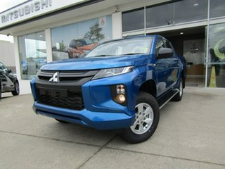 2019 Mitsubishi Triton MR MY19 GLX+ Double Cab Blue 6 Speed Sports Automatic Utility.