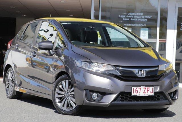 Used Honda Jazz GF MY16 VTi-L, 2015 Honda Jazz GF MY16 VTi-L Modern Steel 1 Speed Constant Variable Hatchback