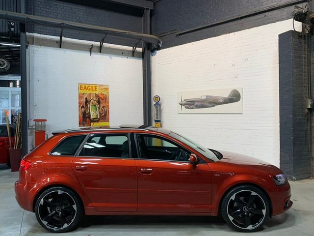 Used Audi A3 8P MY13 Ambition Sportback S Tronic, 2012 Audi A3 8P MY13 Ambition Sportback S Tronic Burgundy 6 Speed Sports Automatic Dual Clutch