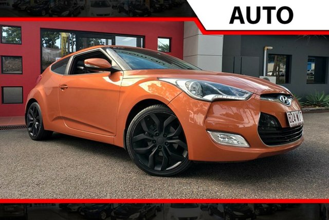 Used Hyundai Veloster FS Coupe D-CT, 2012 Hyundai Veloster FS Coupe D-CT Orange 6 Speed Sports Automatic Dual Clutch Hatchback