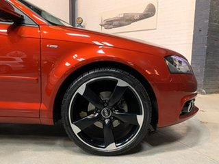 2012 Audi A3 8P MY13 Ambition Sportback S Tronic Burgundy 6 Speed Sports Automatic Dual Clutch.