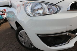 2019 Mitsubishi Mirage LA MY20 ES White Continuous Variable Hatchback.