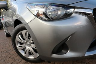 2015 Mazda 2 DJ MY16 Neo Grey 6 Speed Automatic Hatchback.