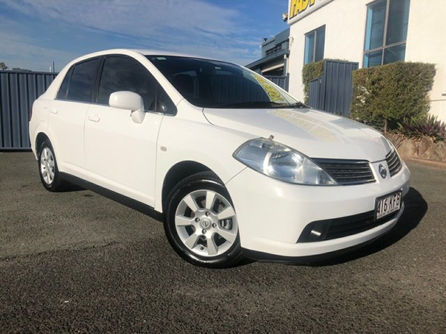 Used Nissan Tiida C11 ST, 2006 Nissan Tiida C11 ST Washington White 6 Speed Manual Sedan
