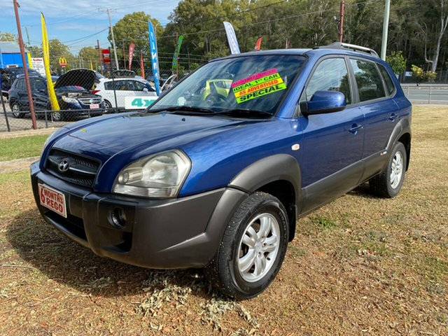 Used Hyundai Tucson JM Elite, 2007 Hyundai Tucson JM Elite Blue 4 Speed Sports Automatic Wagon