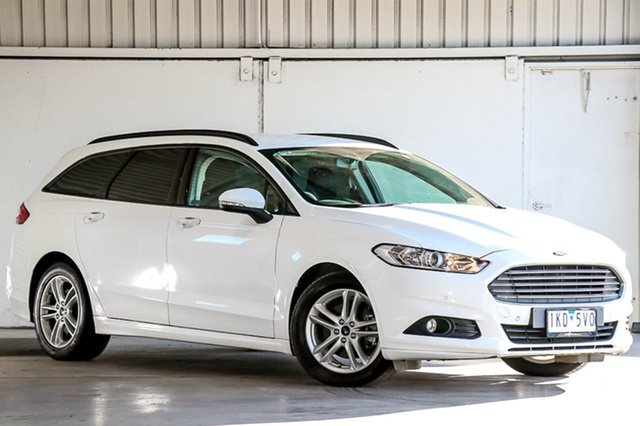 Used Ford Mondeo MD Ambiente PwrShift, 2016 Ford Mondeo MD Ambiente PwrShift White 6 Speed Sports Automatic Dual Clutch Wagon