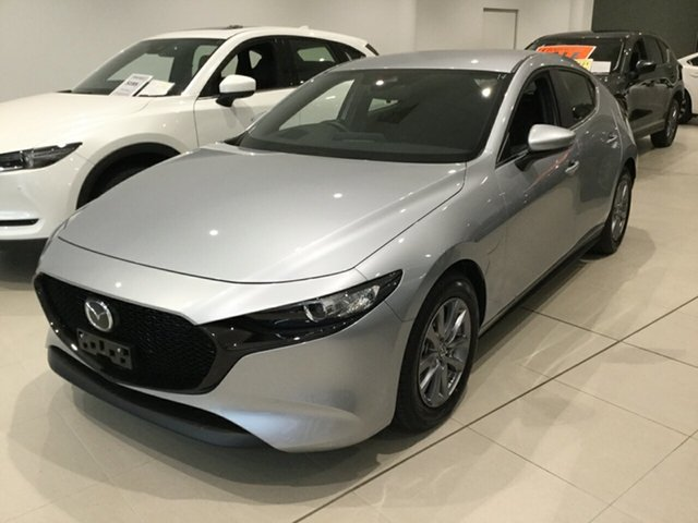 Used Mazda 3 BP2H7A G20 SKYACTIV-Drive Pure, 2019 Mazda 3 BP2H7A G20 SKYACTIV-Drive Pure Sonic Silver 6 Speed Sports Automatic Hatchback