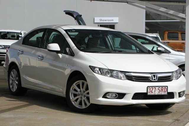 Used Honda Civic 9th Gen Ser II VTi-L, 2012 Honda Civic 9th Gen Ser II VTi-L White 5 Speed Sports Automatic Sedan