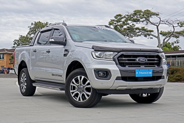 Used Ford Ranger PX MkIII 2019.00MY Wildtrak Pick-up Double Cab, 2018 Ford Ranger PX MkIII 2019.00MY Wildtrak Pick-up Double Cab Silver 6 Speed Sports Automatic