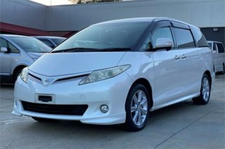 2009 Toyota Estima GSR50W Aeras White Automatic Wagon.