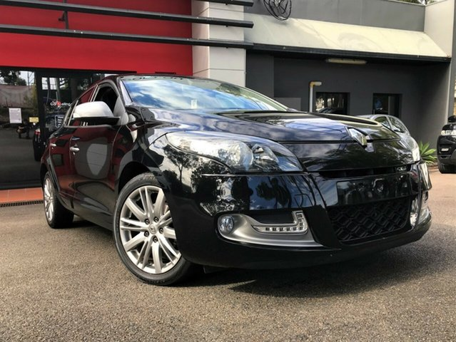 Used Renault Megane III B95 MY13 GT-Line, 2013 Renault Megane III B95 MY13 GT-Line Metallic Black 6 Speed Constant Variable Hatchback
