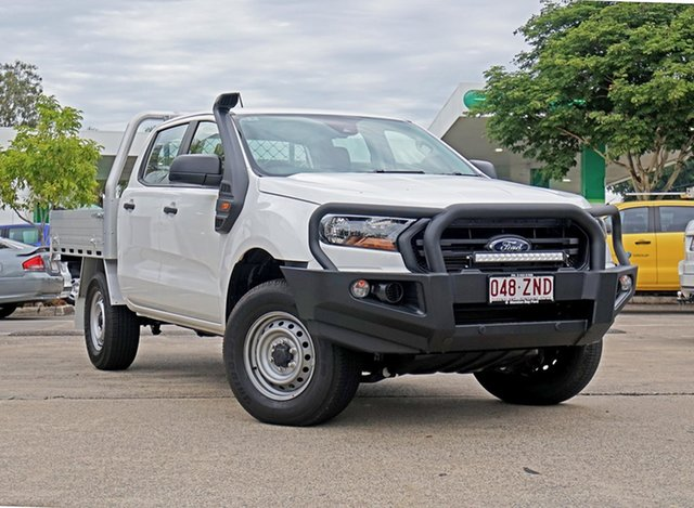 Used Ford Ranger PX MkIII 2019.75MY XL Double Cab, 2019 Ford Ranger PX MkIII 2019.75MY XL Double Cab White 6 Speed Sports Automatic Cab Chassis