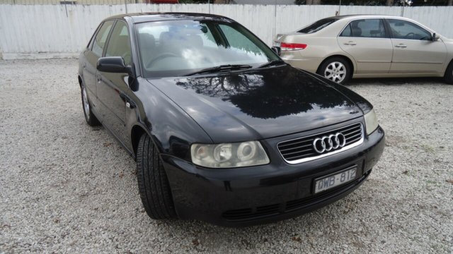 Used Audi A3 8L MY2001 , 2001 Audi A3 8L MY2001 Black 5 Speed Manual Hatchback