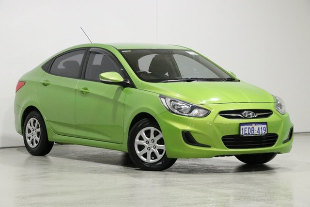 Used Hyundai Accent RB Active, 2013 Hyundai Accent RB Active Green 4 Speed Automatic Sedan