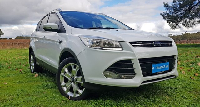 Used Ford Kuga TF MY16 Trend AWD, 2015 Ford Kuga TF MY16 Trend AWD White 6 Speed Sports Automatic Wagon