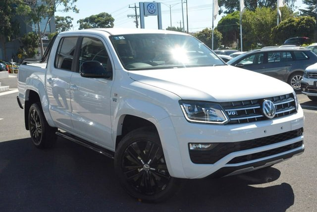 New Volkswagen Amarok 2H MY20 TDI580 4MOTION Perm Highline Black, 2020 Volkswagen Amarok 2H MY20 TDI580 4MOTION Perm Highline Black White 8 Speed Automatic Utility