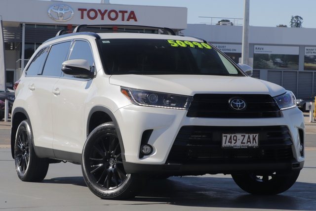 Used Toyota Kluger GSU55R Black Edition AWD, 2019 Toyota Kluger GSU55R Black Edition AWD Crystal Pearl 8 Speed Sports Automatic Wagon