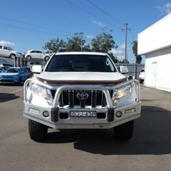 2016 Toyota Landcruiser Prado GDJ150R GXL White 6 Speed Manual Wagon.