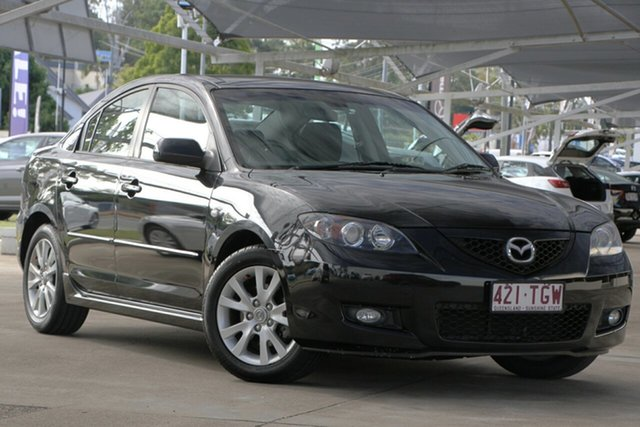 Used Mazda 3 BK10F2 Maxx Sport, 2007 Mazda 3 BK10F2 Maxx Sport Black 4 Speed Sports Automatic Sedan