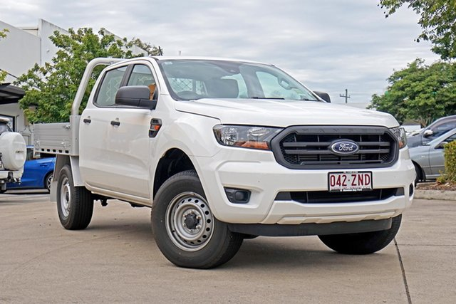 Used Ford Ranger PX MkIII 2019.75MY XL Double Cab, 2019 Ford Ranger PX MkIII 2019.75MY XL Double Cab Arctic White 6 Speed Sports Automatic Cab Chassis