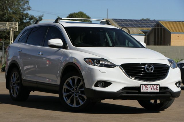 Used Mazda CX-9 TB10A5 Grand Touring Activematic AWD, 2014 Mazda CX-9 TB10A5 Grand Touring Activematic AWD Crystal White Pearl 6 Speed Sports Automatic