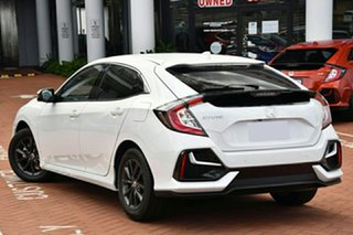2020 Honda Civic 10th Gen MY20 VTi-S Platinum White 1 Speed Constant Variable Hatchback.